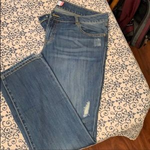Cabi Distressed Boyfriend Jeans Size 16